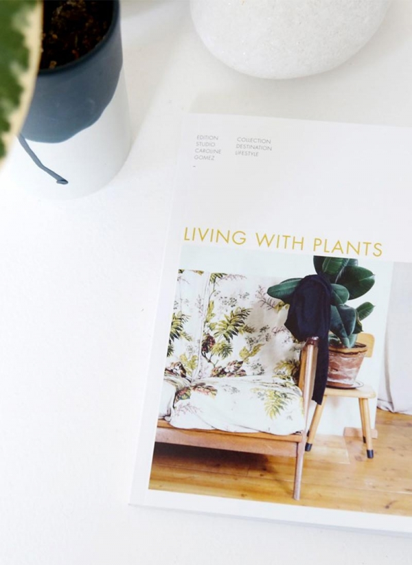 Livre Living with Plants